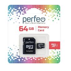 Карта памяти Perfeo microSD 64GB High-Capacity (Class 10) UHS-1